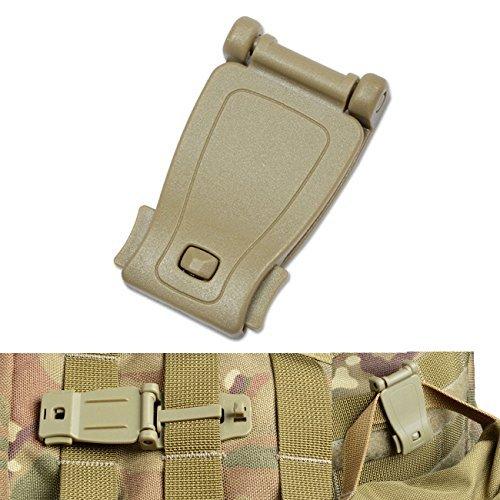 DYZD Mehrzweck-Molle-Clip Molle Gurt Aufsätze Werkzeug Web Dominator Schnalle für Tactical Tasche, Rucksack, Khaki, 6 Pcs -
