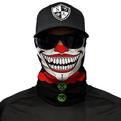 SA Company Face Shield Sturmhaube Multiunktionstuch Maske Fishing Totenkopf Schal (Clown)
