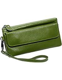Itslife Leather Wristlet Wallet Clutch Ladies Smartphone Cross Body Wallet With Shoulder Strap/Wrist Strap (Green)