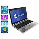 HP EliteBook 8560P - PC portable - 15,6'' - Gris (Intel Core i5 2520M / 2.50 GHz, 8 Go de RAM, Disque dur 500 Go, Graveur DVD, Webcam, Wifi, Windows 7 Professionnel)