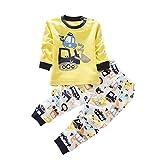 BOBORA Garcons Filles Coton Pyjama Bebe Four Seasons Sous-vetements Ensembles Enfants 0-4Ans