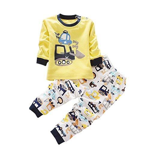 ESHOO - Pijama Dos Piezas - Manga Larga - niños niñas