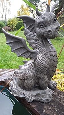Sitting Baby Dragon Decorative Garden Figurine Large