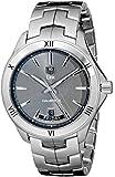 Tag Heuer Men's 42mm Steel Bracelet & Case Automatic Grey Dial Analog Watch WAT2015.BA0951