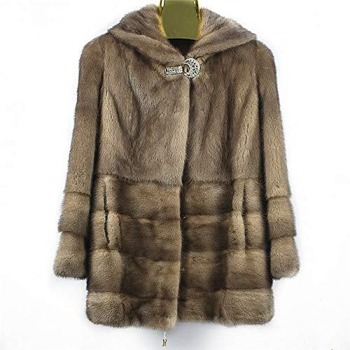 ZYJANO Warmer Mantel,Neue Frauen natürliche Herbst- und Wintermode warme Freizeit europäischen High Street Style 9
