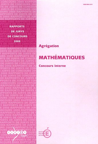 Agrégation Mathématiques : Concours interne