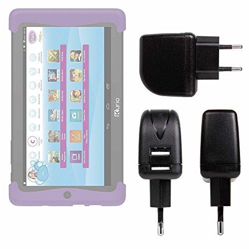 DURAGADGET Cargador con Enchufe Europeo para Cefatronic - Tablet Clan Motion Pro - con Doble Entrada USB