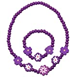 NeedyBee Baby Girls Purple Floral Beaded...