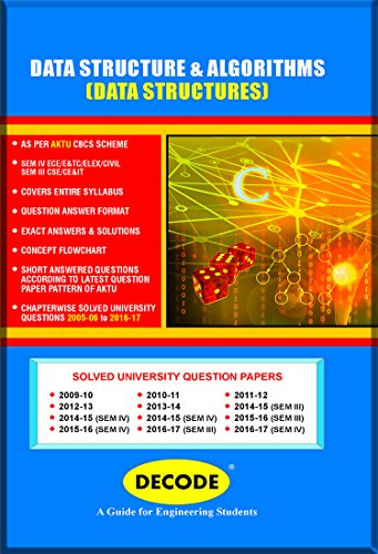 DECODE Data Structures using - C for UPTU ( III-CSE/IT-2013 course )
