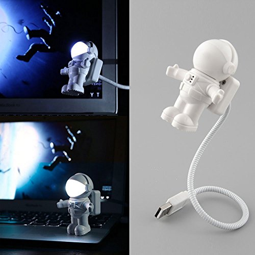 USB LED Light,Flexible Neck Spaceman Astronaut Led Light Reading Nightlight for Laptop PC Notebook