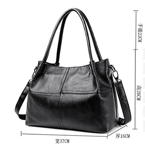 PDFGO Damen Schultertasche Stitching PU Soft Tasche Europa Und Die Vereinigten Staaten Mode Handtaschen Handtaschen Messenger Taschen Tote Bag B