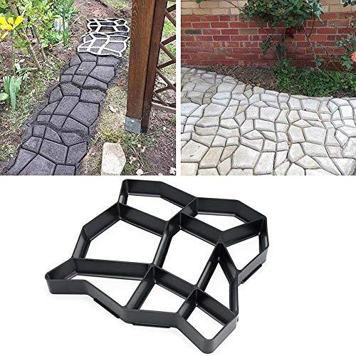 FOONEE DIY Beton Trittstein Formen Kunststoff Wiederverwendbar Weg Weg Gehhilfe Beton Bodenstecher für Garten Rasen -