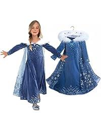 gnrjgs Ropa para niñas Primavera y otoño invierno Amor Aisha Vestido de cosplay Vestido de niña