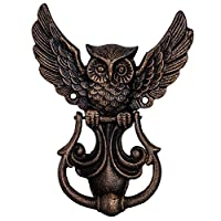 aubaho Door knocker owl figure iron antique style 20cm