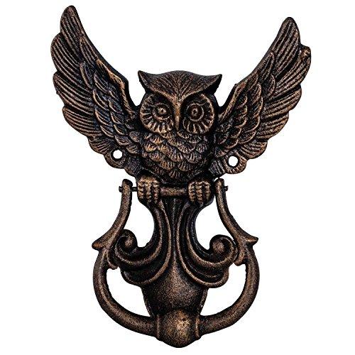 aubaho Türklopfer Eule Figur Skulptur Eisen Antik-Stil 20cm