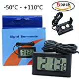 Thermomètre numérique avec écran LCD à Frigo Réfrigérateur Digital + Sonde -...
