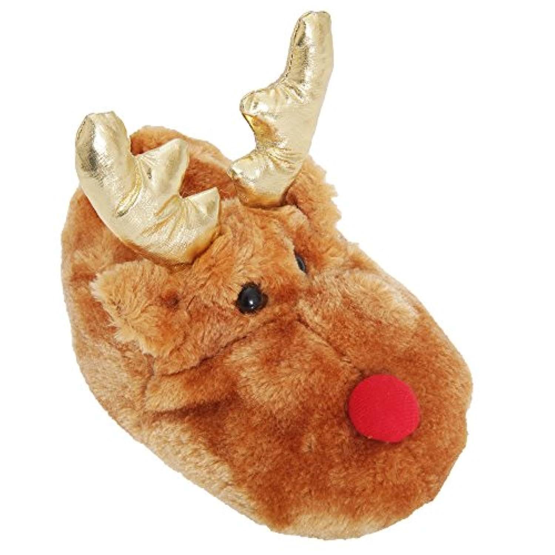 Kids/Childrens Novelty Reindeer Slippers (UK 11/12 (EURO 30/31)) (Reindeer)