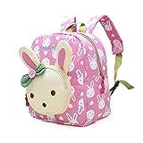Mochila Infantil / PequeñA Bebes Guarderia Bolsa Lindo Conejo Animales Bambino mochila para pequeño niñas Rosa