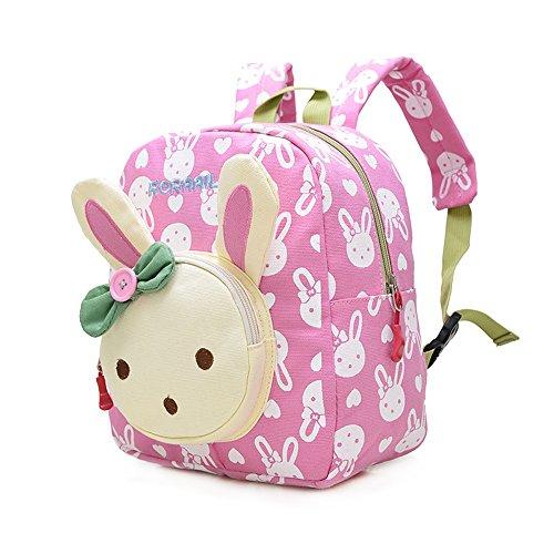 Mochila Infantil/PequeñA Bebes Guarderia Bolsa Lindo Conejo Animales Bambino Mochila para pequeño niñas Rosa