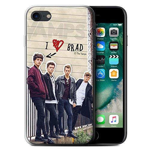 Offiziell The Vamps Hülle / Gel TPU Case für Apple iPhone 7 / Brad Muster / The Vamps Geheimes Tagebuch Kollektion Brad
