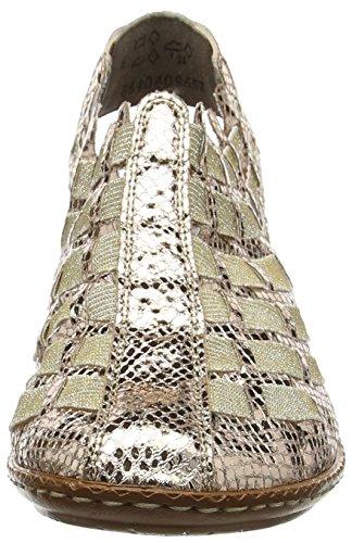 Rieker 46778-90, Ciabatte Donna Oro (90)