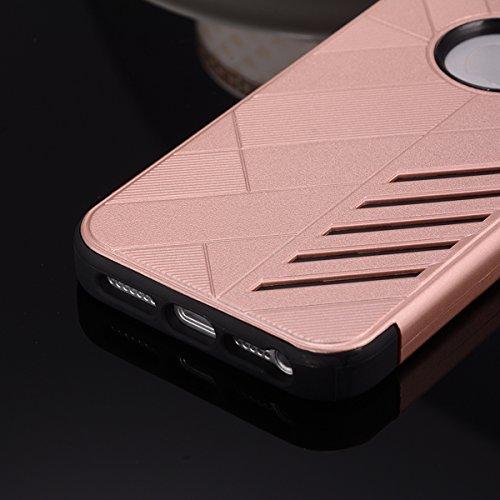 Apple iPhone SE 5SE 5 5S Case, CaseFirst Custodia posteriore protettiva Custodia protettiva in acciaio inox morbido TPU + PC (Argento)