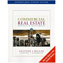 Commercial Real Estate: Analysis and Investments