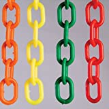 #10: Set Of 4 Plastic Chain rope for hanging - Chain plastic multicolor for hanging - clothes Hanging Multicolor 5 feet height