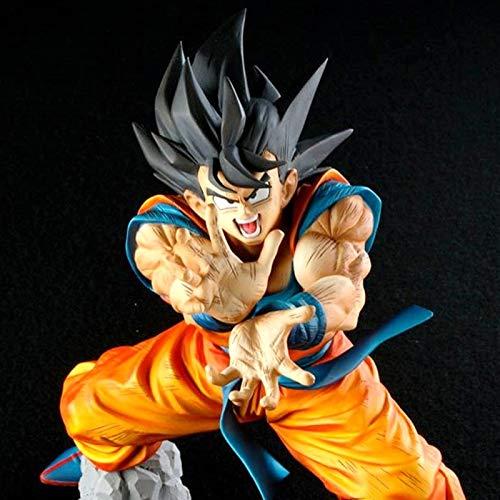Anime Dragon Ball Z Son Goku Figuras Shock Wave Super Saiyan Son Gokou Dragonball PVC Figura de Acción Modelo Juguetes Brinquedos 17CM