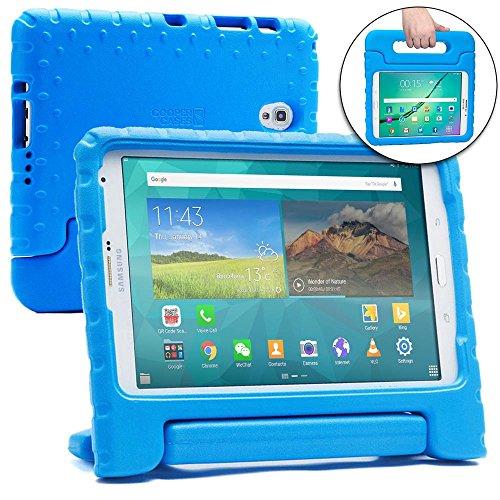 Cooper Cases(TM Dynamo Samsung Galaxy Tab S 8.4 / LTE Hülle für Kinder in Blau (Leicht, ungiftiger Eva-Schaum, haltbares Design, Extraschutz, Freier Stand)