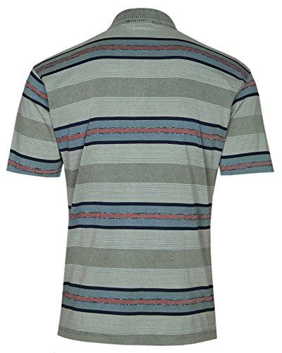 Herren Premium Poloshirts mit Kurzer Knopfleiste Olive