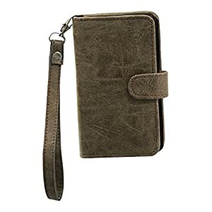 Jo Jo A9 Classic Leather Carry Case Cover Pouch Wallet Case For Micromax Canvas Music Brown