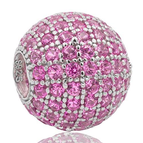 Damen Perle Charm 925 Sterling Silber Zirkonia Charm von SECRET & YOU | Perfekt für Pandora, Secret & You Perlenarmband oder ähnliches.