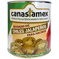 CHILES JALAPEÑOS EN RODAJAS 2800g - CANASTAMEX