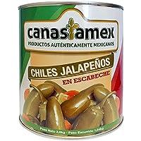 CHILES JALAPEÑOS EN ESCABECHE 2800g - CANASTAMEX