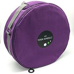 Yoga rueda bolsa funda de transporte por MyYogaWheels, color morado, tamaño Estándar
