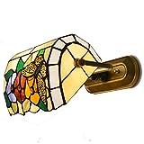 Mariposa Flores vidrieras Tiffany lámparas de pared Dormitorio