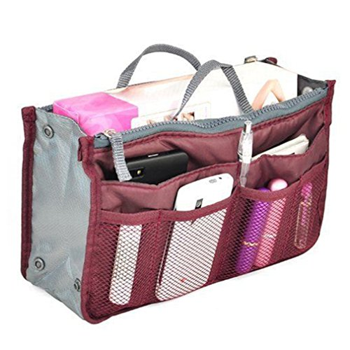 Multifunktional Damen Reise Handtaschen Organisator Tragbar Kosmetiktasche Organizer Einfügen Großer Liner Aufgeräumte Tasche Make-Up Etuis von RuiChy