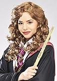 Femmes Hermione Granger Style Brun perruque bouclée
