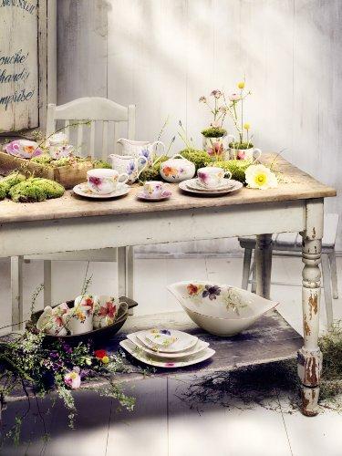 Villeroy & Boch Mariefleur Serve & Salad Schale flach/Hochwertige Schale aus weißem Porzellan mit...