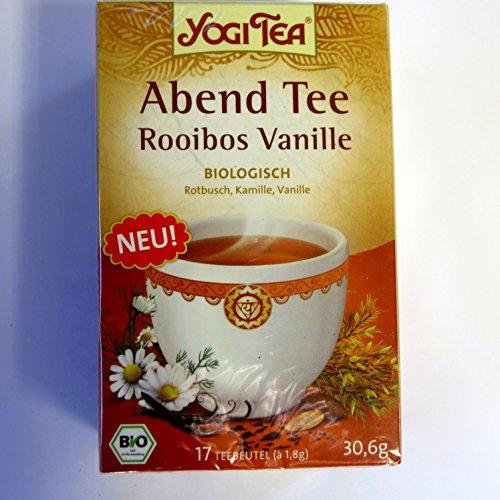 Yogi Tee Abend Tee mit Rooibos und Vanille - 17 Tee Beutel - Yogi Tea - AB 30,- EURO VERSANDKOSTENFREI!