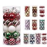 Paquete incluido:   30 * adornos de árbol de navidad   Decoración navideña de lujo   Estas bolas crearían una sensación de atmósfera y opulencia en su hogar esta Navidad. Riqueza de patrones, colores elegantes, cálidos, como si hubiera un ...
