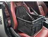 Haustier Autositzträger - Auto Booster tragbare und atmungsaktive Tasche für Hund Katze bis zu 25LB (Schwarz)