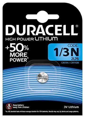 Duracell 1/3N Lithium-Hochleistungsbatterie (CR11108) 1 Stück Crv3 3v Lithium Batterie