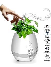 Altavoz Bluetooth, recargable inalámbrico Smart flor de música con la luz de la noche Led, Planta de toque Reproducción de música de piano (sin planta), regalo creativo