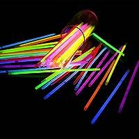 50 Glow Sticks in Mixed Colours GLOW IN DARK Bracelets PARTY SUPPLIES GN ENTERPRISES