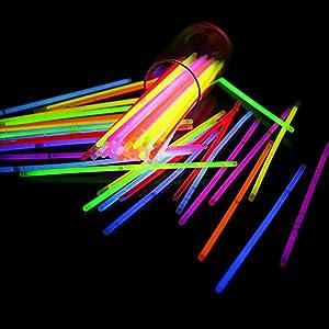 Desconocido Generic V_GS-MIX-50 - Juego de 50 Pulseras de Colores Surtidos con Brillo en la Oscuridad, Multicolor