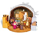 Tu pourras reproduire les histoires de tes h�ros pr�f�r�s avec les 2 figurines articul�es Masha et Michka incluses. L'ensemble du playset comprend la hutte, les 2 figurines, le bonhomme de neige, 1 fauteuil, 1 table, 1 t�l�, 1 samovar, 1 coff...