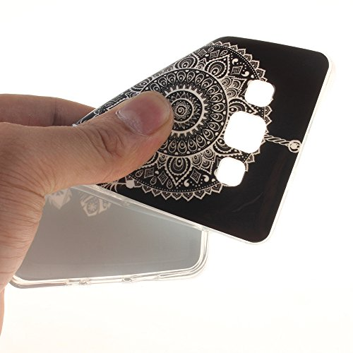Samsung Galaxy A3(2015) hülle MCHSHOP Ultra Slim Skin Gel TPU hülle weiche Silicone Silikon Schutzhülle Case für Samsung Galaxy A3 - 1 Kostenlose Stylus (Lovely Panda) Wind chime in Black