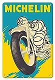 Pacifica Island Art 22cm x 30cm Vintage enseignes en Métal - Michelin Man - Pneus Moto - Ancienne Affiche publicite Vintage Poster c.1959...